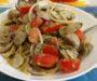 Pasta alle vongole con pesto di pistacchi